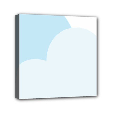 Cloud Sky Blue Decorative Symbol Mini Canvas 6  X 6  by Nexatart