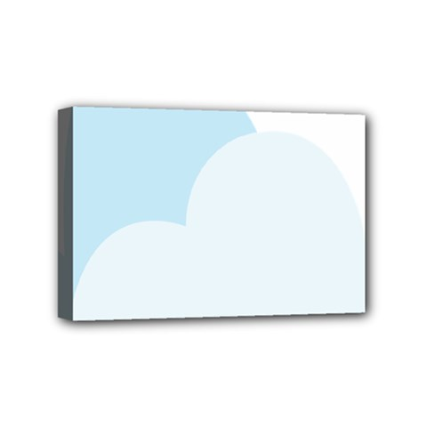 Cloud Sky Blue Decorative Symbol Mini Canvas 6  X 4  by Nexatart