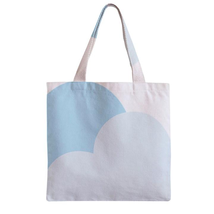 Cloud Sky Blue Decorative Symbol Zipper Grocery Tote Bag