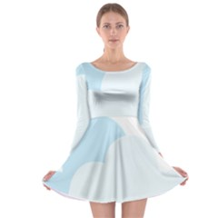 Cloud Sky Blue Decorative Symbol Long Sleeve Skater Dress