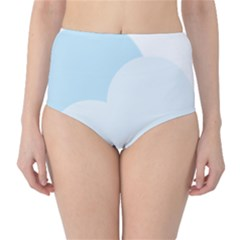 Cloud Sky Blue Decorative Symbol High Waist Bikini Bottoms