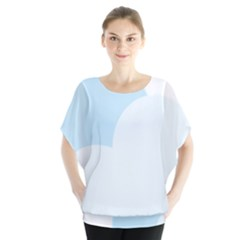 Cloud Sky Blue Decorative Symbol Blouse
