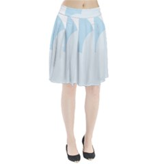 Cloud Sky Blue Decorative Symbol Pleated Skirt