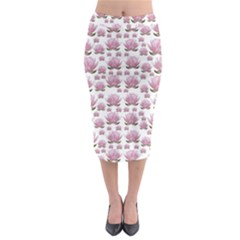 Lotus Midi Pencil Skirt by ValentinaDesign
