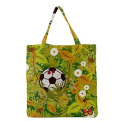 Ball On Forest Floor Grocery Tote Bag by linceazul