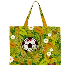 Ball On Forest Floor Zipper Large Tote Bag by linceazul