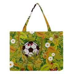 Ball On Forest Floor Medium Tote Bag by linceazul
