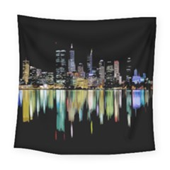 City Panorama Square Tapestry (large) by Valentinaart