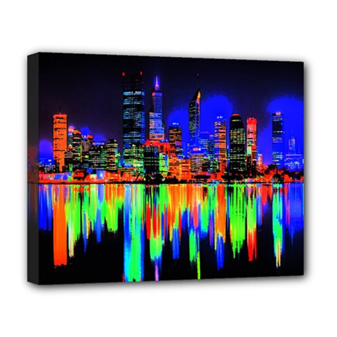 City Panorama Deluxe Canvas 20  X 16   by Valentinaart