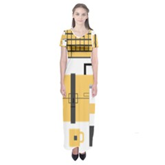 Web Design Mockup Web Developer Short Sleeve Maxi Dress