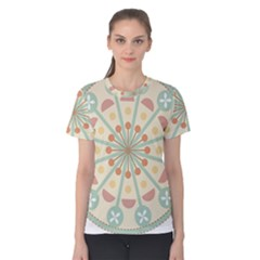 Blue Circle Ornaments Women s Cotton Tee
