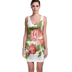 Flower Rose Pink Red Romantic Sleeveless Bodycon Dress