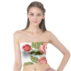 Flower Rose Pink Red Romantic Tube Top