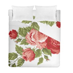 Flower Rose Pink Red Romantic Duvet Cover Double Side (full/ Double Size)