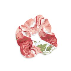 Flower Rose Pink Red Romantic Velvet Scrunchie
