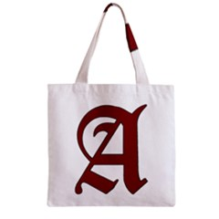 The Scarlet Letter Zipper Grocery Tote Bag by Valentinaart