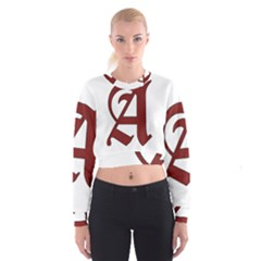 The Scarlet Letter Cropped Sweatshirt by Valentinaart