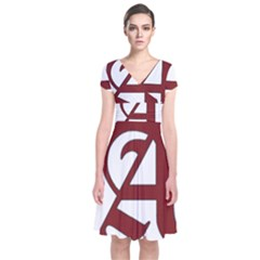 The Scarlet Letter Short Sleeve Front Wrap Dress by Valentinaart