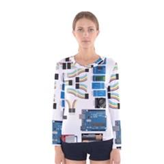Arduino Arduino Uno Electronic Women s Long Sleeve Tee