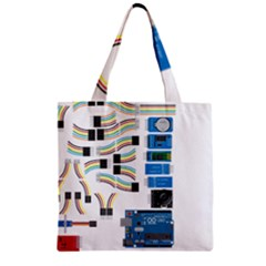 Arduino Arduino Uno Electronic Zipper Grocery Tote Bag by Nexatart