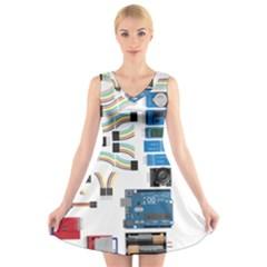 Arduino Arduino Uno Electronic V Neck Sleeveless Skater Dress