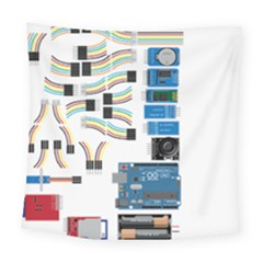 Arduino Arduino Uno Electronic Square Tapestry (large) by Nexatart