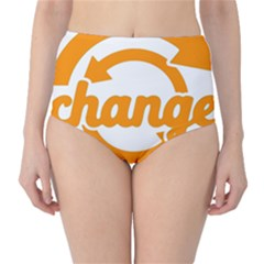 Think Switch Arrows Rethinking High Waist Bikini Bottoms