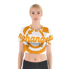 Think Switch Arrows Rethinking Cotton Crop Top
