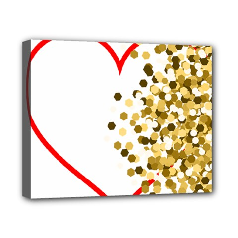 Heart Transparent Background Love Canvas 10  X 8  by Nexatart