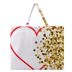 Heart Transparent Background Love Zipper Large Tote Bag by Nexatart