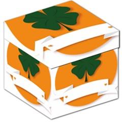 St Patricks Day Ireland Clover Storage Stool 12   by Nexatart