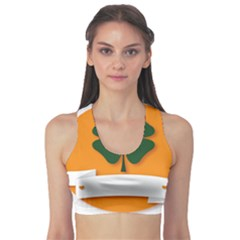 St Patricks Day Ireland Clover Sports Bra