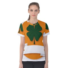 St Patricks Day Ireland Clover Women s Cotton Tee