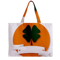 St Patricks Day Ireland Clover Zipper Mini Tote Bag by Nexatart