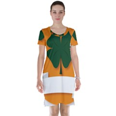 St Patricks Day Ireland Clover Short Sleeve Nightdress