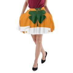 St Patricks Day Ireland Clover A Line Pocket Skirt by Nexatart