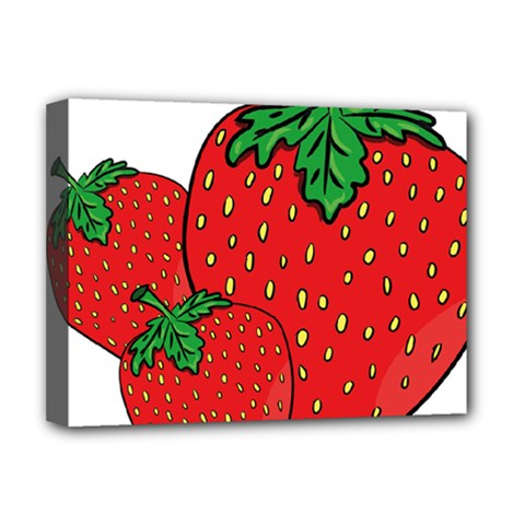 Strawberry Holidays Fragaria Vesca Deluxe Canvas 16  X 12