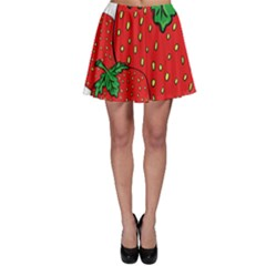 Strawberry Holidays Fragaria Vesca Skater Skirt
