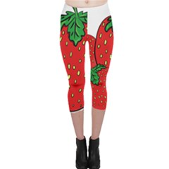 Strawberry Holidays Fragaria Vesca Capri Leggings