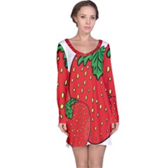 Strawberry Holidays Fragaria Vesca Long Sleeve Nightdress