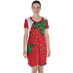 Strawberry Holidays Fragaria Vesca Short Sleeve Nightdress by Nexatart