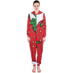 Strawberry Holidays Fragaria Vesca Hooded Jumpsuit (ladies)