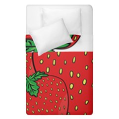Strawberry Holidays Fragaria Vesca Duvet Cover Double Side (single Size)