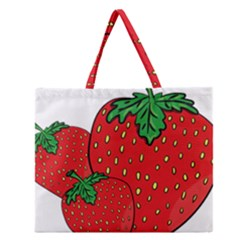 Strawberry Holidays Fragaria Vesca Zipper Large Tote Bag by Nexatart