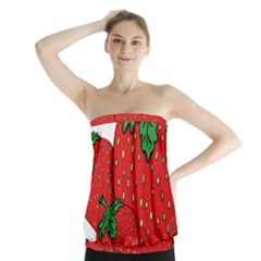 Strawberry Holidays Fragaria Vesca Strapless Top