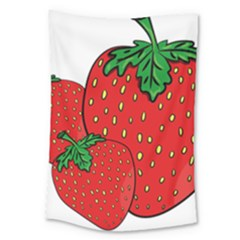 Strawberry Holidays Fragaria Vesca Large Tapestry by Nexatart