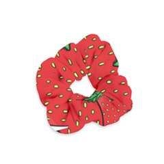 Strawberry Holidays Fragaria Vesca Velvet Scrunchie