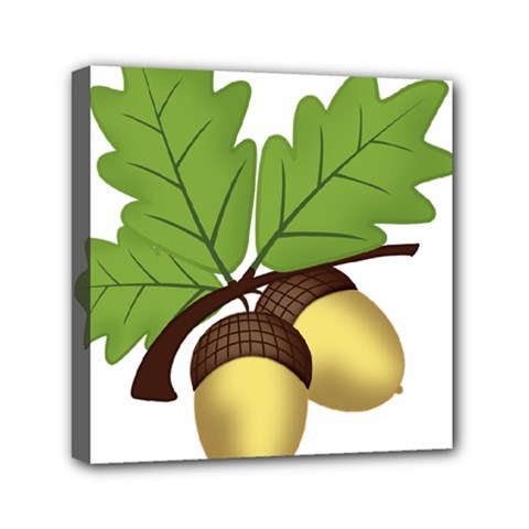 Acorn Hazelnuts Nature Forest Mini Canvas 6  X 6  by Nexatart