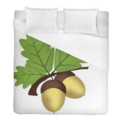 Acorn Hazelnuts Nature Forest Duvet Cover (full/ Double Size) by Nexatart