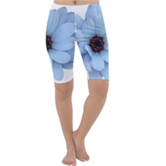 Daisy Flower Floral Plant Summer Cropped Leggings